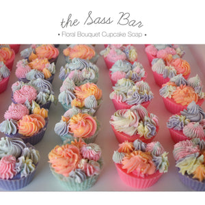 Floral Bouquet 2 Cupcake Soap