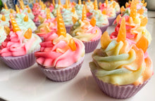 Load image into Gallery viewer, Golden Unicorn Cupcake Soap
