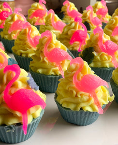 Aruba Flamingo Cupcake Soap