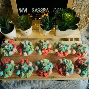 X'mas Bouquet Cupcake Soap