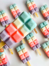 Load image into Gallery viewer, Cotton Candy Bar Popsicle Soap