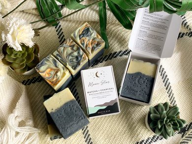 DETOX : Matcha + Charcoal Soap Bar