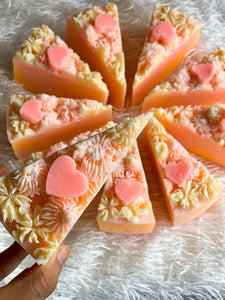 Peaches & Cream Cake Slice Soap