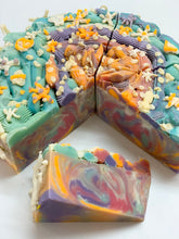 Load image into Gallery viewer, Corals & Reef Cake Slice Soap