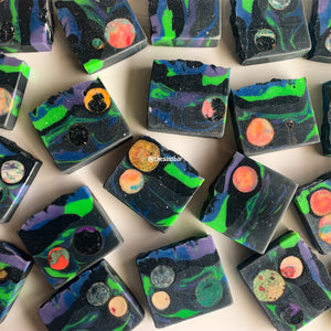 Celestial Planetary Loaf Slice Soap