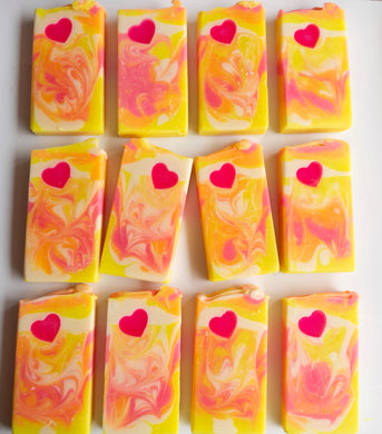 Zesty Heart Loaf Soap