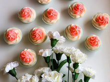 Load image into Gallery viewer, Peach Double Frost Cupcake Soap