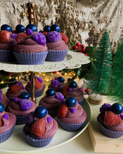 Load image into Gallery viewer, Winter Berry Cupcake Soap