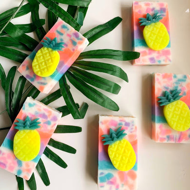 Pineapple Malibu Sunset Loaf Soap
