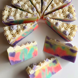 Coachella Cake Soap Slice Soap