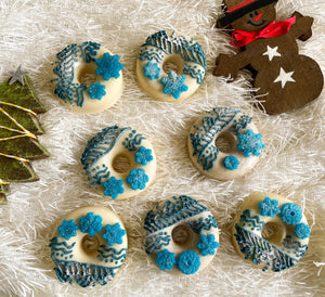 Xmas Tree Ornament Donut Soap