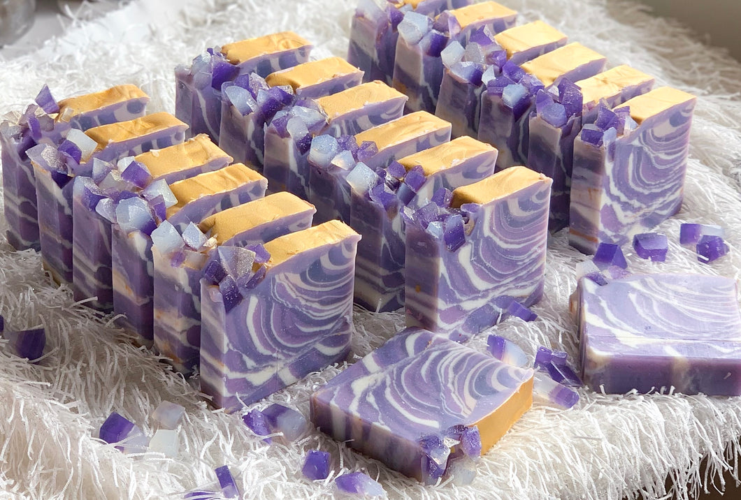 Geode Loaf Slice Soap