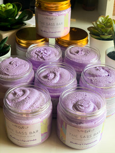 BlackBerry & Sugared Violets Whipped Soap Scrub