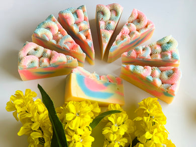 Alice in Wonderland Cake Slice Soap