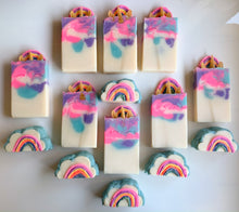 Load image into Gallery viewer, Unicorn Rainbow(Set of 2) Loaf Slice Soap