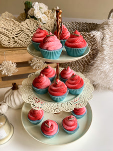 Pink Peppermint Cupcake Soap