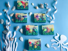 Load image into Gallery viewer, Coral Reef Aquarium Loaf Slice Soap