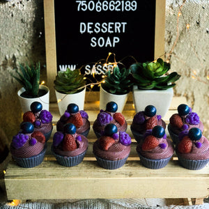 Winter Berry Cupcake Soap