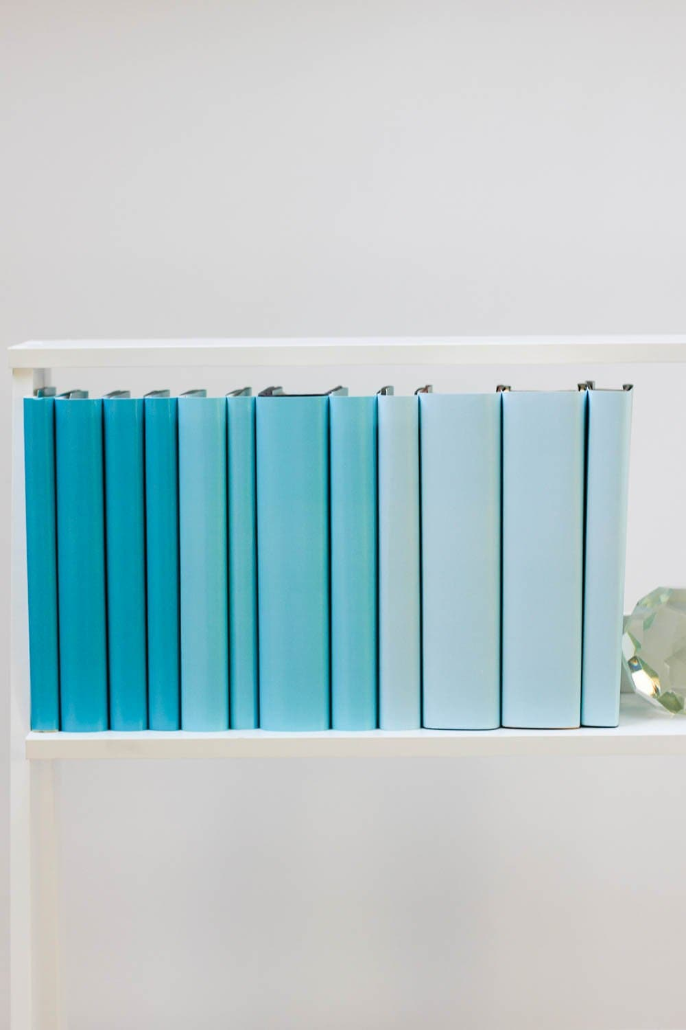 Set of styled blue books made with blue book covers