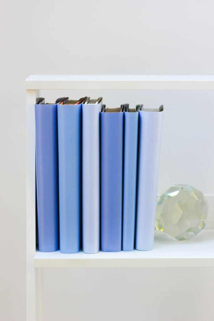 Large and small periwinkle books from periwinkle book covers