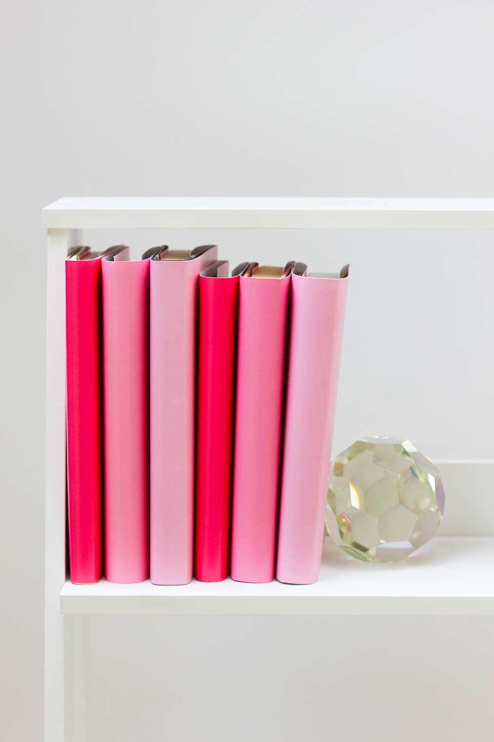 Large and small pink books from pink book covers