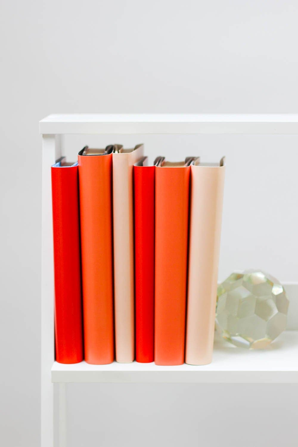 Large and small red books from red book covers