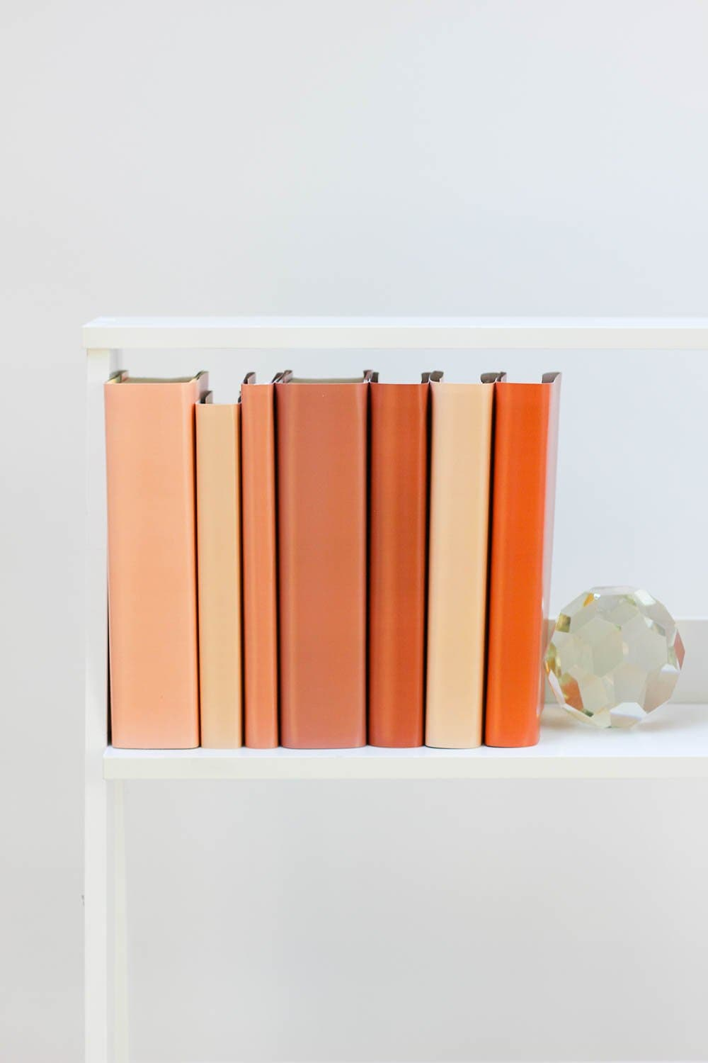 Set of styled nude books made with nude book covers