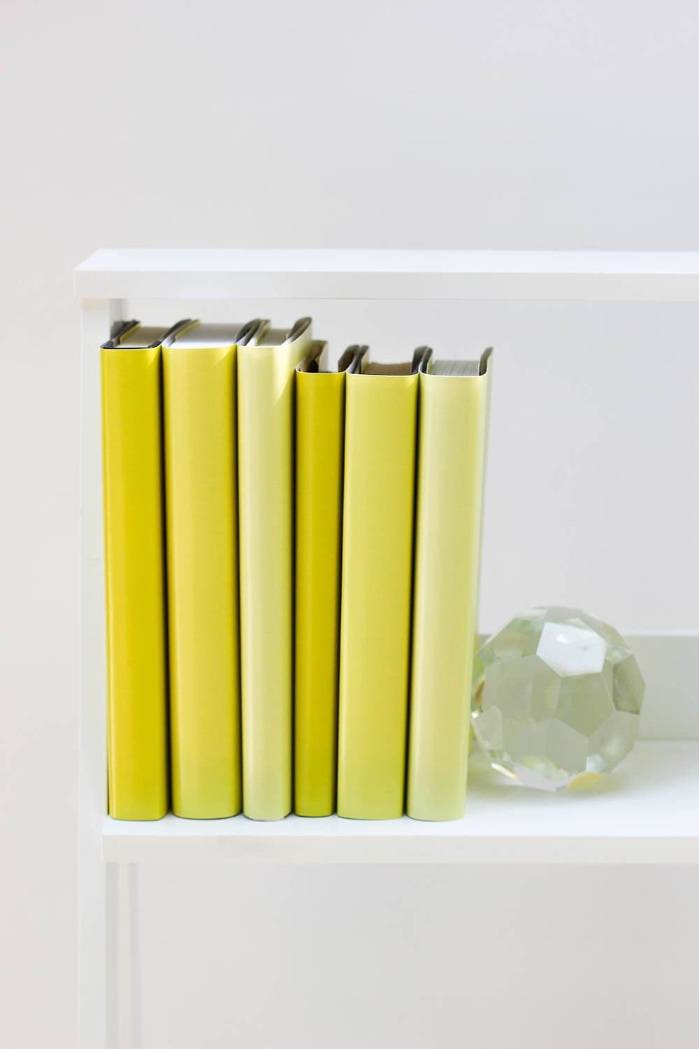 Large and small yellow books from yellow book covers