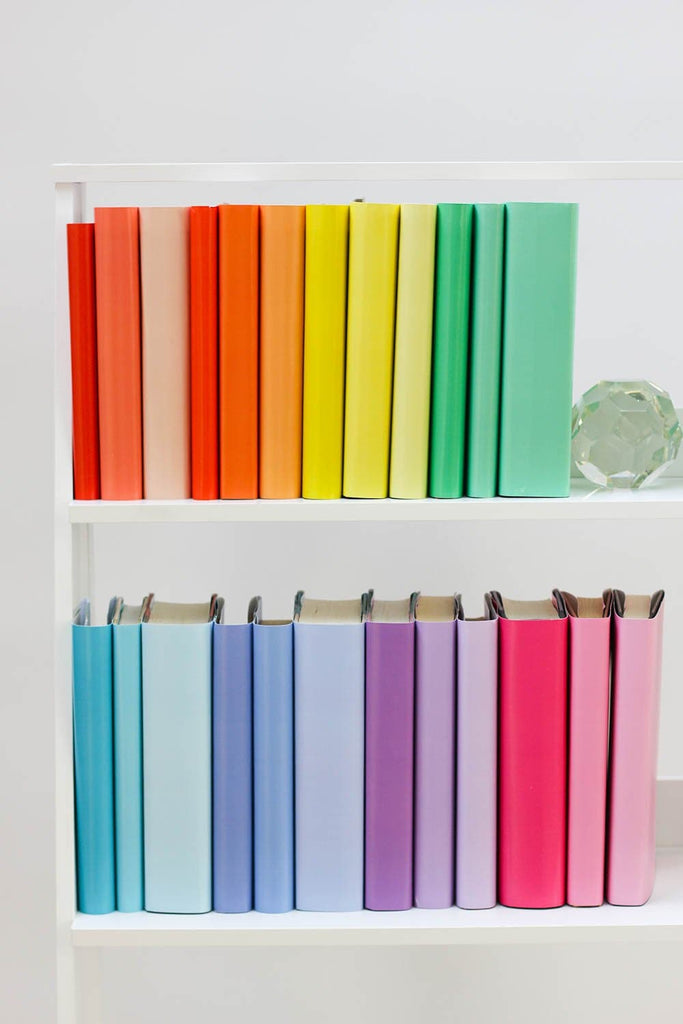 Large and small rainbow books from rainbow book covers