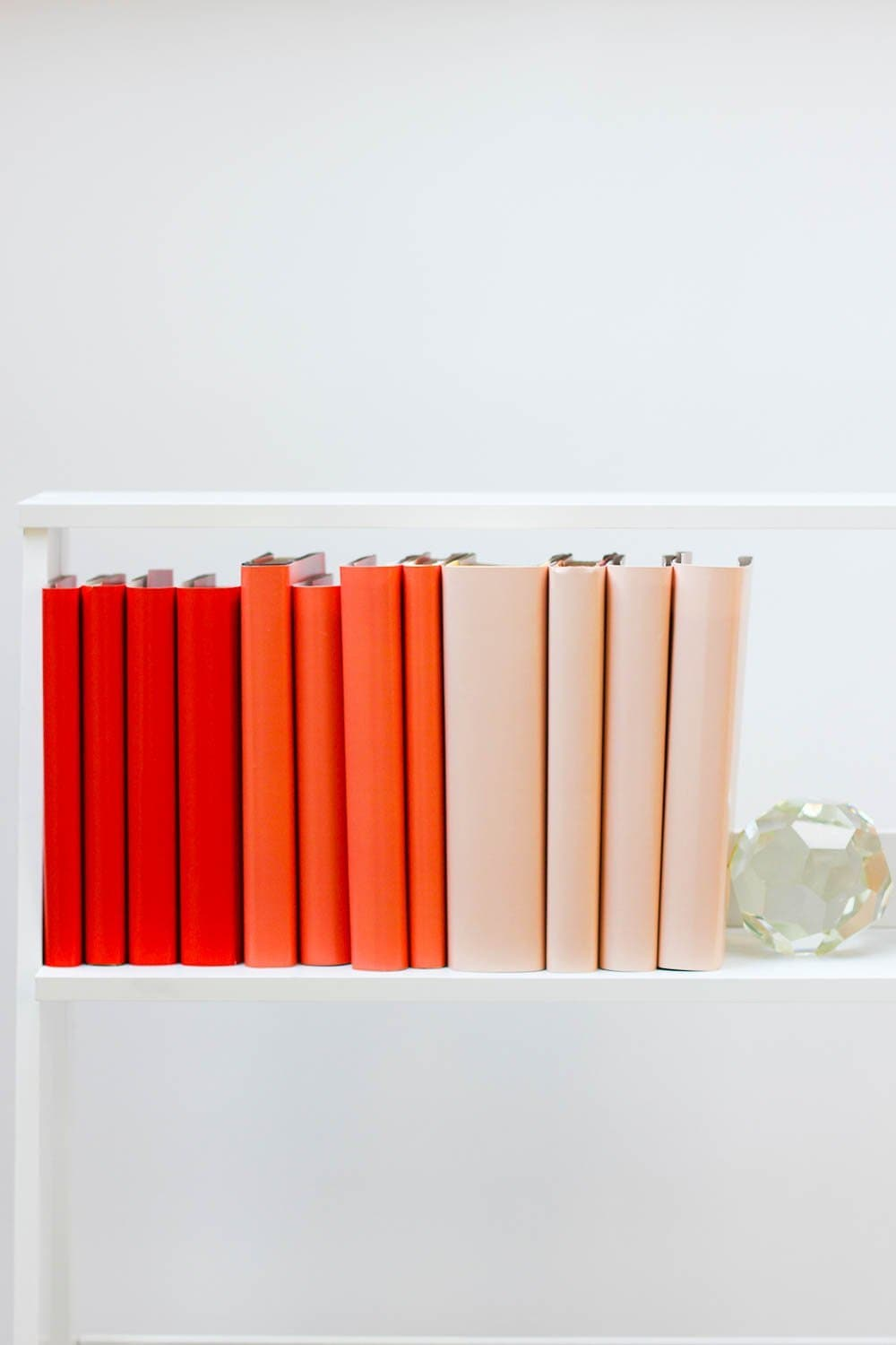Set of styled red books made with red book covers