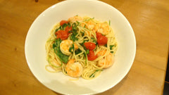 Bowl with Pasta and Oven Roasted Shrimp