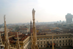 From the roof of the Milan Duomo