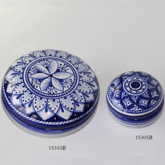 Blue Round Ceramic Boxes
