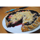 Rustic Blueberry and Peach Crostada