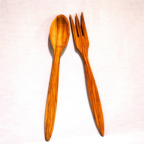 Olive Wood Salad Servers Imported from Italy