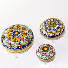 Domed Top Round Ceramic Boxes