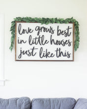 Love Grows Best In Little Houses Just Like This Sign