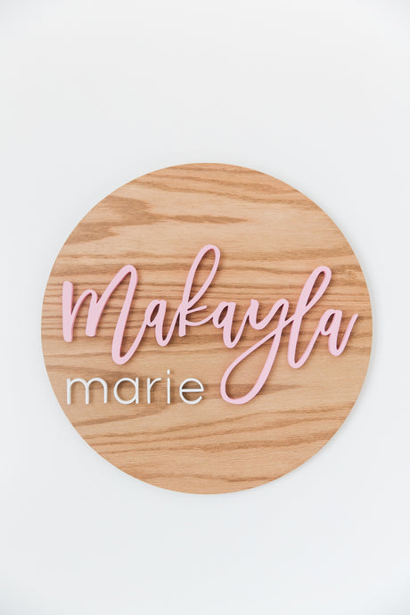 Medium Nursery Name Wood Sign