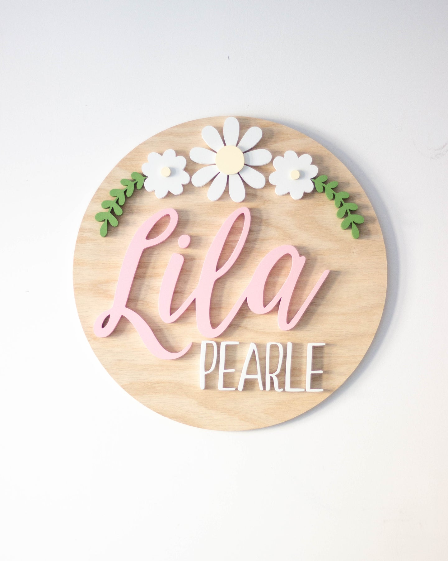 Medium Name Round with Floral Arch