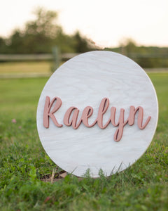 Rose gold nursery sign