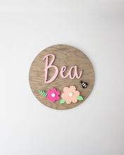 Medium Nursery Name Sign with Floral Design