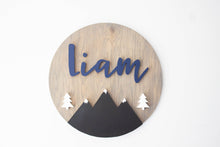Medium Woodland Nursery Name Sign