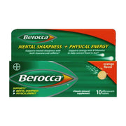 Berocca Mental Sharpness + Physical Energy Orange Effervescent Tablets