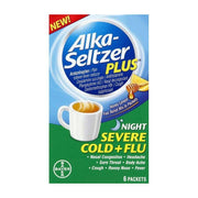 Alka-Seltzer Plus Night Severe Cold+Flu Night Honey Lemon Packets