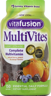 Vitafusion MultiVites Gummy Vitamins Assorted Fruit 150 ct
