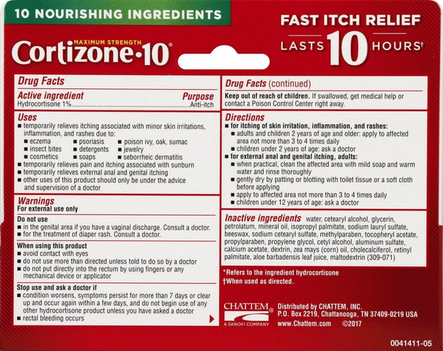 Cortizone-10 Plus 1% Hydrocortisone Anti-Itch Creme 1 oz