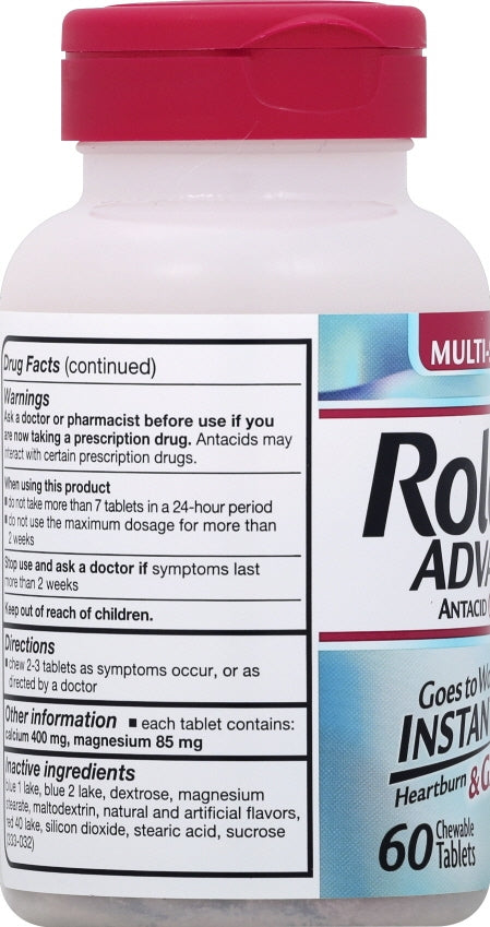 Rolaids Advanced Antacid Chewable Berry Tablets