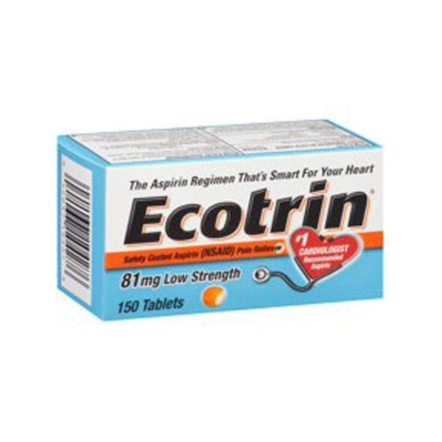 Ecotrin Low Strength 81mg Tablets