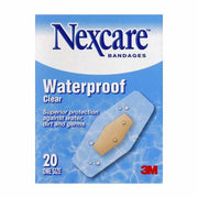 Nexcare Adhesive Bandages Waterproof Clear One Size
