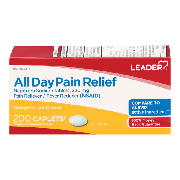 LEADER All Day Pain Relief 220mg Caplets